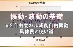 振動・波動の基礎2自由度の自由振動の具体例と使い道