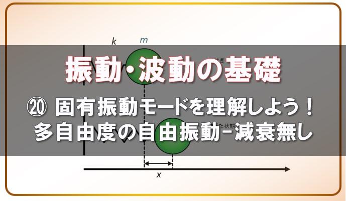 振動・波動の基礎ー20固有振動モードを理解しよう 多自由度の自由振動